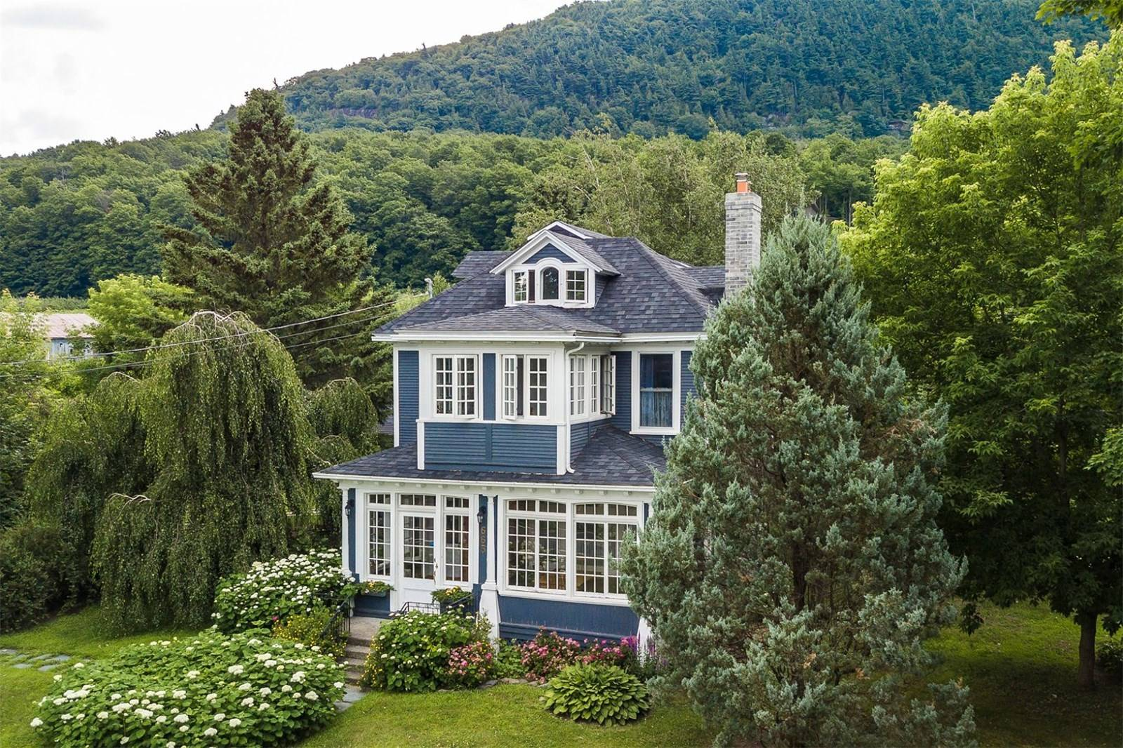 canada, quebec, victorian, home, house, vineyard, mountains, trees, pool, garden, design, exterior, windows, trim, flowers, beautiful, charming, lovely, gorgeous, nature, for sale, real estate, canadian, quebecois, countryside