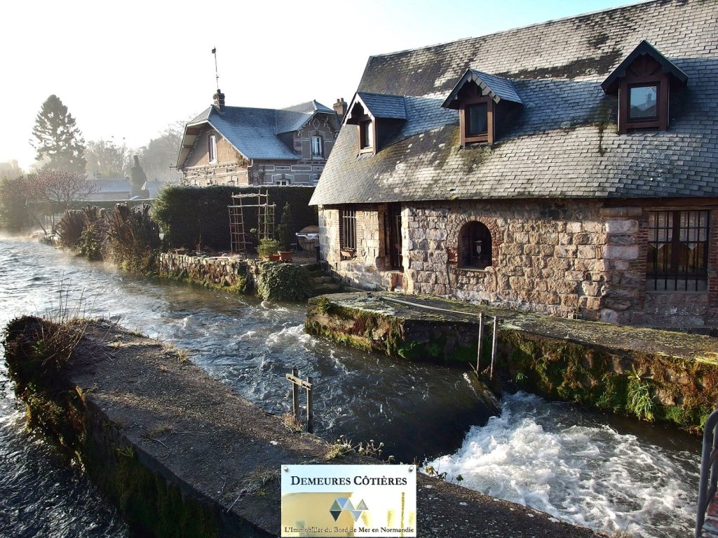 france, normandy, durdent, mill, water mill, conversion, river, water, 18th century, stone, windows, morning, light, view, riverside, beautiful, cottage, house, french, living, real estate, vacation, rental, residence, dwelling, home
