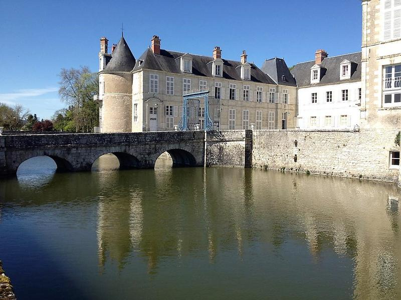 Magnificent apartment of 93 m2 in a castle close to the town of Mer in the Loir et Cher département. It consists of two entrances by a beautiful staircase on the first floor of this castle built in the XVIth century. A first large living room with a separate kitchenette, a second living room with a mezzanine converted into a bedroom with access by a spiral staircase. You can also access a second bedroom (currently used as a library) with a shower and a toilet. You have access to all the park of the castle on a surface of 15 hectares and its orangery as an outbuilding.  The origin of this castle dates back to 1150, and around 1473, Jehan de Mineray raised it from its ruins, preserving the 4 corner towers of an old medieval building from the 13th century. Later, the castle was owned by the Montgomery family of Scotland. Claude Théophile (1655-1745) had it rebuilt in 1737. Between the 4 medieval towers, buildings of XVIIIth century style are built. The history of Avaray castle is also that of the De Béziade family who lived there for 300 years. At the end of the 1950s, the furniture, collections and souvenirs were sold and dispersed. The buildings were affected by a subdivision into about thirty apartments.