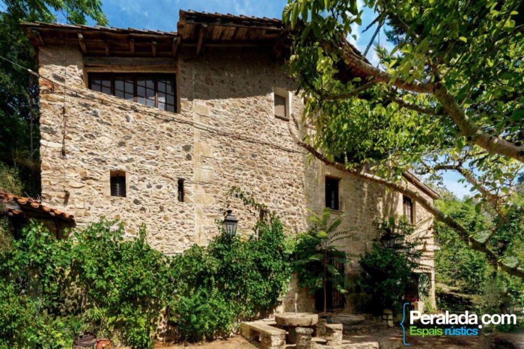 A beautiful old stone flour mill circa 1900 near Girona, Spain!