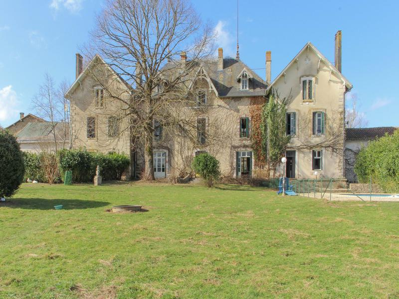 An impressive 19th century logis in the French countryside - manor house plus two separate apartments, ten bedrooms in all, on three acres of land with a pool!