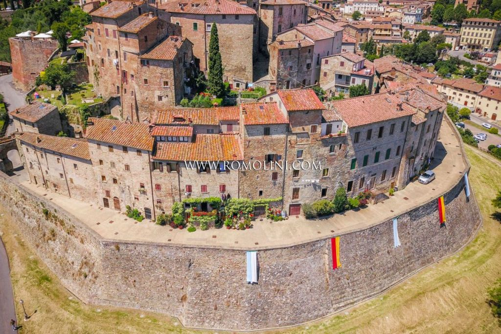 A four bedroom townhouse on the walls of Anghiari, a medieval town in Arezzo, Italy.