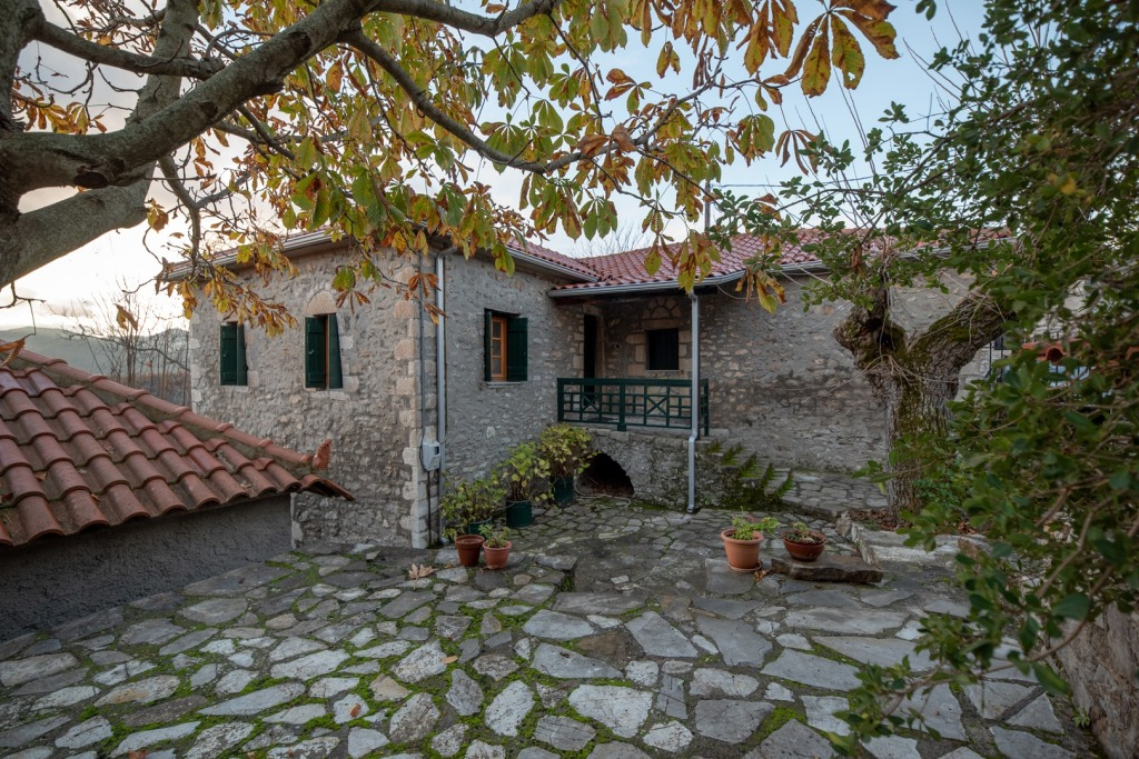 A cozy, traditional stone house in the mountain village of Ambelonia, in Pelloponnese, Greece!