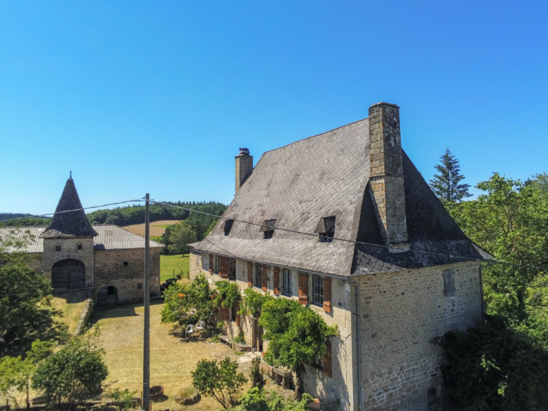 A beautiful French farmhouse circa 1780 with eight bedrooms, on 1.3 acres, located in Lot, France!