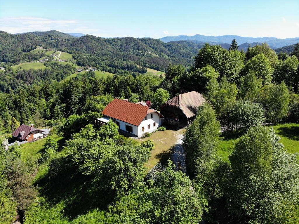 Slovenia! A traditional farmhouse on 13 acres of beautiful countryside in the pretty countryside hamlet of Litija, only 40 minutes from the capital of Ljubljana, Slovenia.